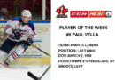 Lasers Paul Vella Named CCM/HESN Player of the Week