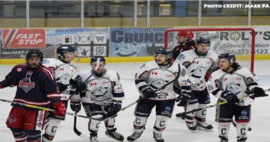 Cochrane Crunch's the Rapids in NOJHL Action