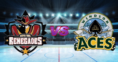 GMHL Renegades Sink Eight to Earn Win Over Aces in Windsor