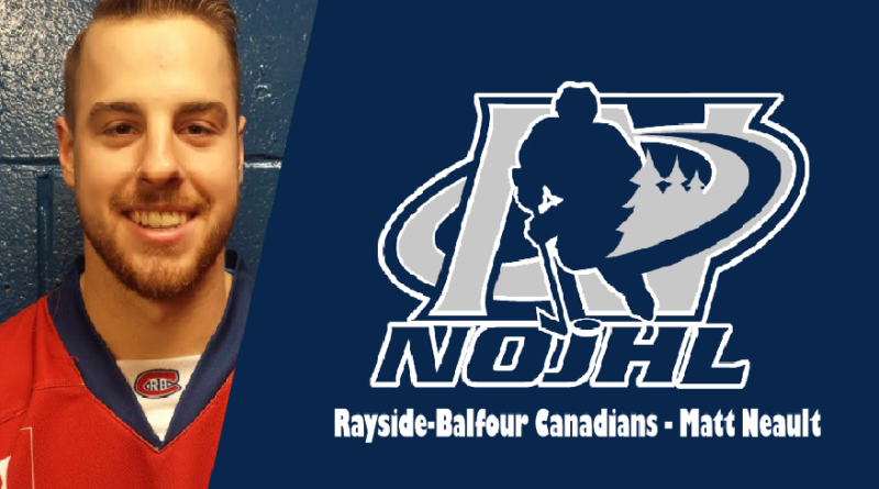 Rayside- Balfour's Neault Set to Tie/Break NOJHL Games Played Record
