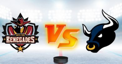 Renegades Fall in GMHL Game One of Post Season to Bulls