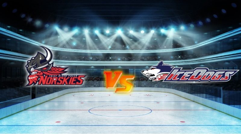 Ice Dogs Double Up on Norskies in Thief River Falls in SIJHL Action